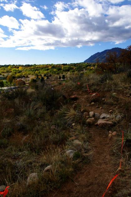 Single-track at Bear Creek Park. Great race course. Very challenging.